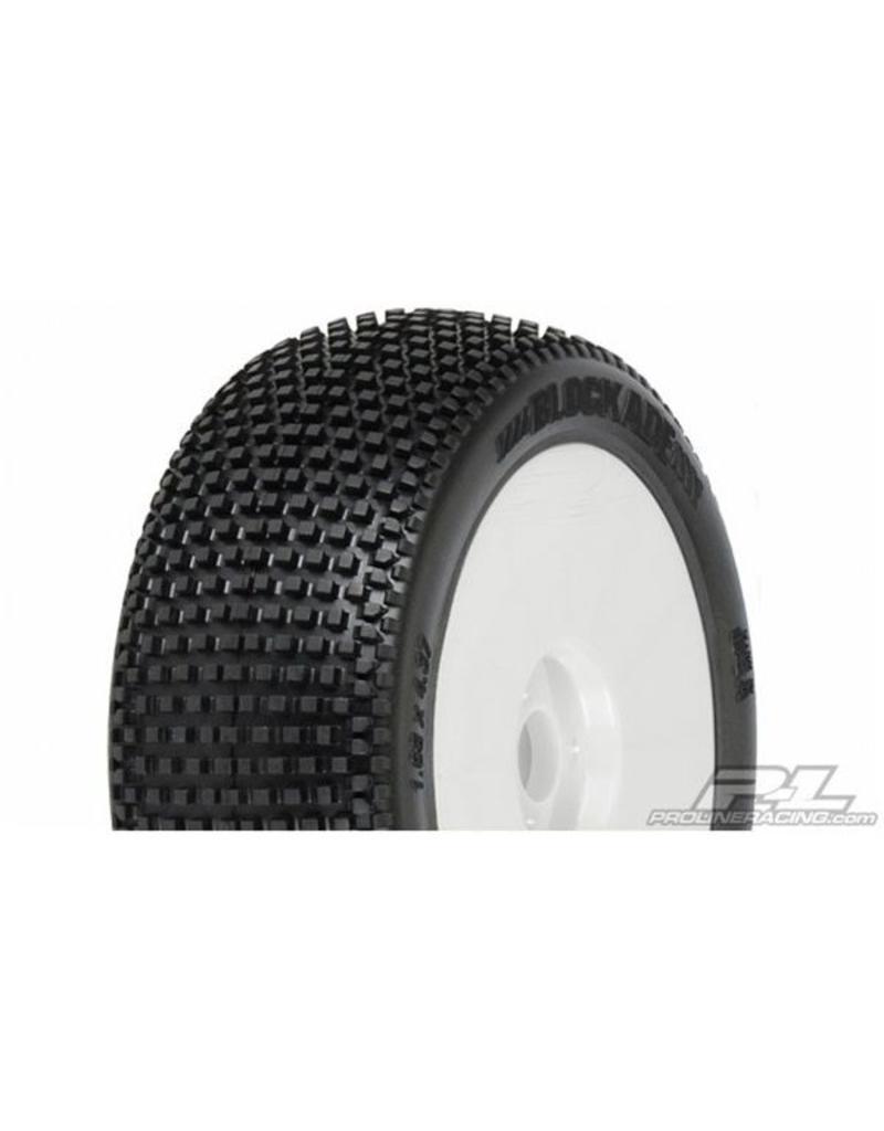 Proline Blockade M3 (Soft) Off-Road 1:8 Buggy Tires Mounted on V2 W