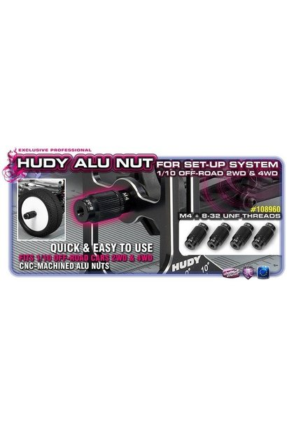 Alu Nut For 1/10 Off-Road Set-Up System (4), H108960