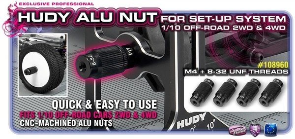 Alu Nut For 1/10 Off-Road Set-Up System (4), H108960-1