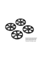Hudy Alu Set-Up Wheel For 1/10 Rubber Tires (4), H109370