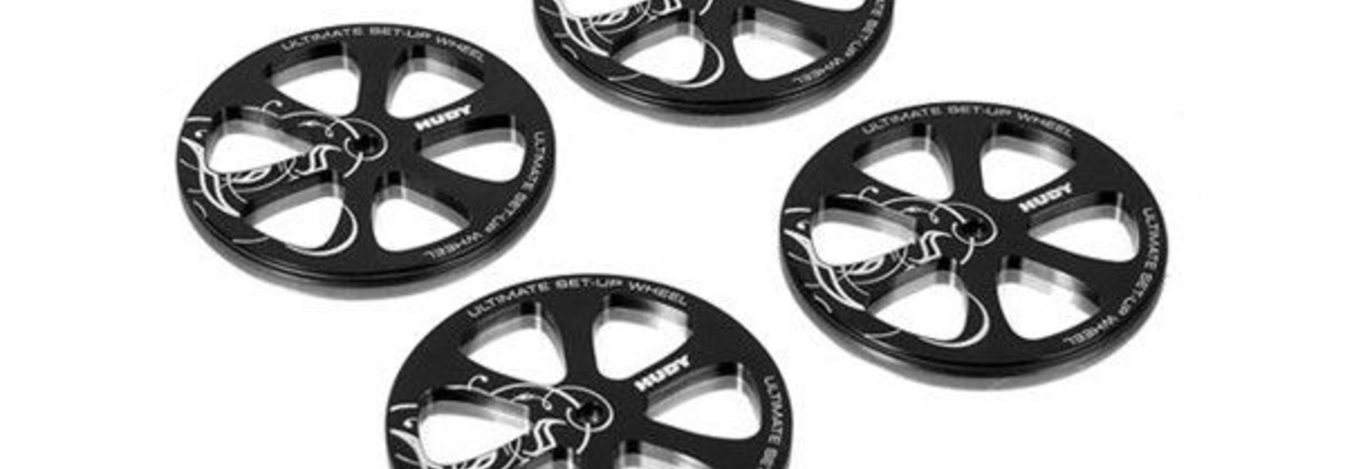 Alu Set-Up Wheel For 1/10 Rubber Tires (4), H109370