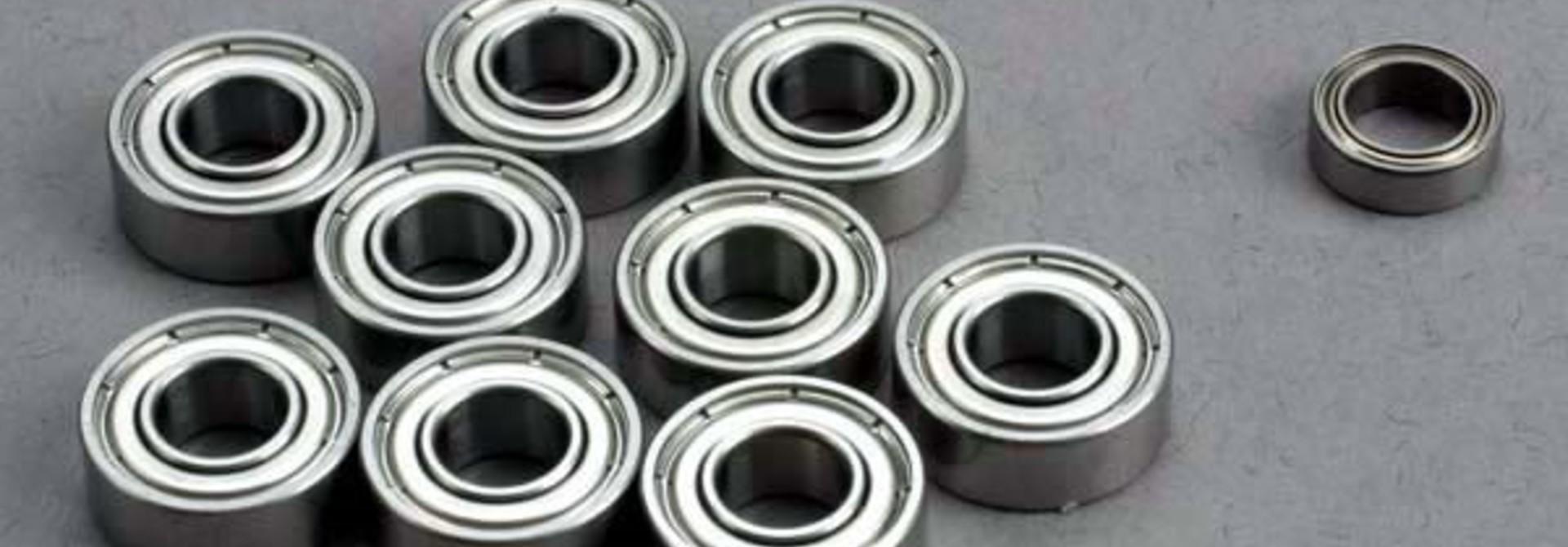 Ball bearing set: 5x11x4mm (9)/ 5x8x2.5mm (1), TRX1259