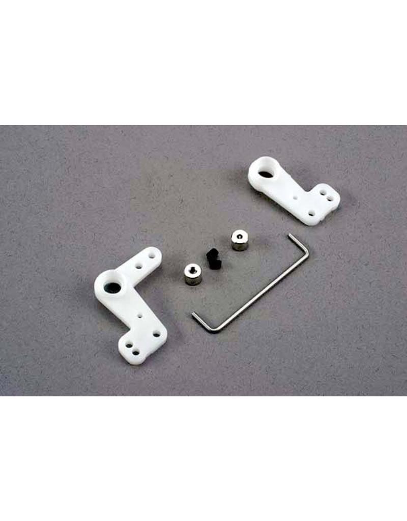 Traxxas Bellcranks (l&r)/ 1.5mm wire draglink/ 1.5mm set screw colla, TRX4343