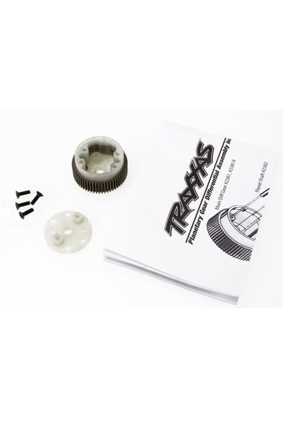 Main diff with steel ring gear/ side cover plate/ screws (Ba, TRX2381X