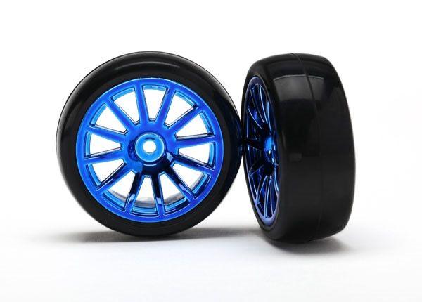 12-Sp Blue Wheels, Slick Tires Tires & W, TRX7573R-1
