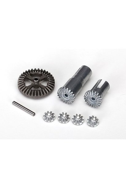 Gear set, differential, metal output gears (2)/ spider gears, TRX7579X
