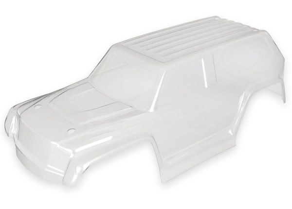 Body, Teton, (clear, requires painting) decal sheet, TRX7611-1