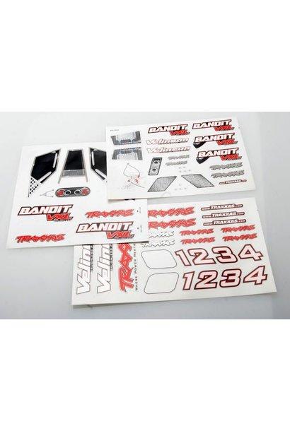 Decal sheets, Bandit VXL, TRX2413R