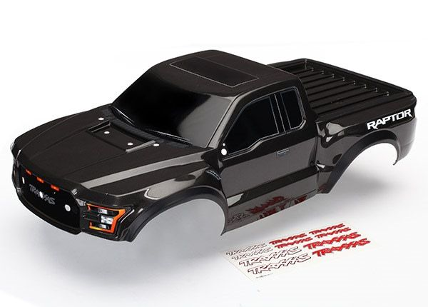 Body, Ford Raptor, black (painted, decals applied) 2017, TRX5826A-1