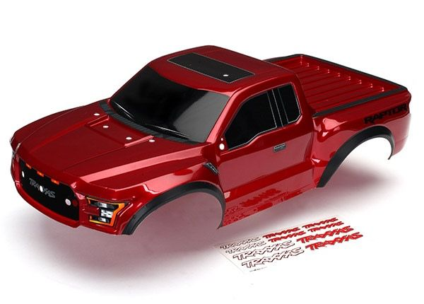 Body, Ford Raptor, Red (pain  ted, decals applied) 2017-1