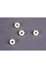 Traxxas 4mm nylon wheel nuts (4), TRX2447