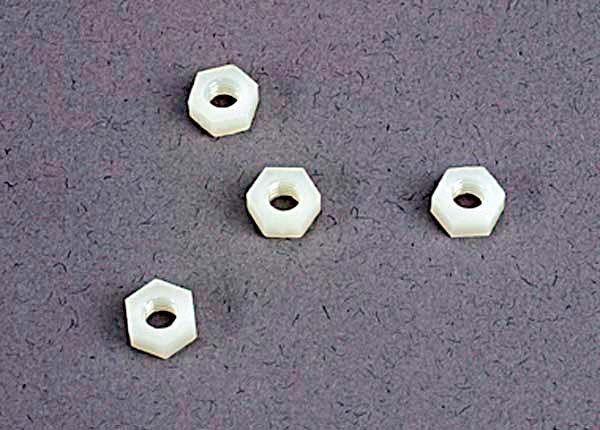 4mm nylon wheel nuts (4), TRX2447-1