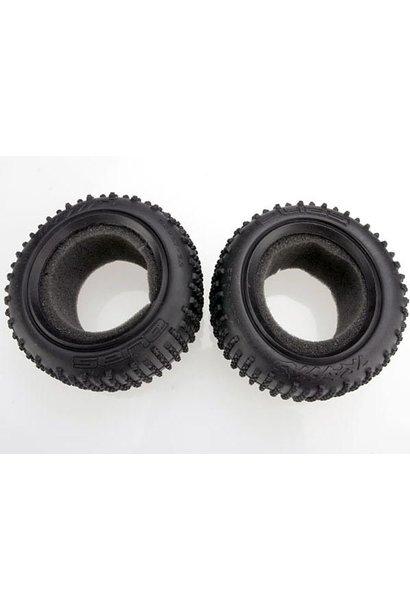 Tires, Alias 2.2 (rear) (2)/ foam inserts (Bandit) (soft com, TRX2470