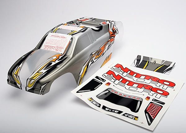 Body, Nitro Sport, ProGraphix (replacement for the painted b, TRX4512-1