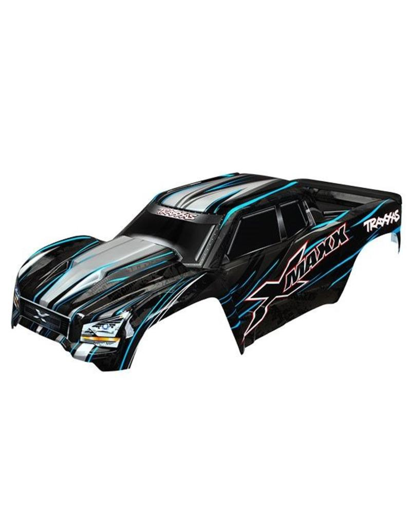 Traxxas Body, X-Maxx, blue (painted, decals applied) (assembled with, TRX7711A