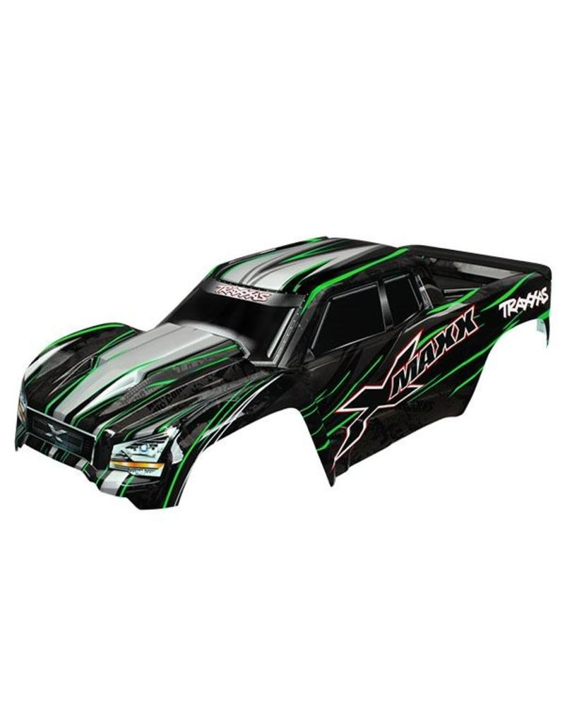 Traxxas Body, X-Maxx, green (painted, decals applied) (assembled wit, TRX7711G