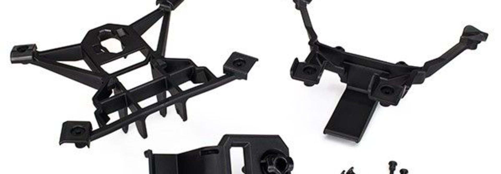 Body mounts, front & rear/ 3x15mm BCS (4)/ 3x12mm shoulder s, TRX7715