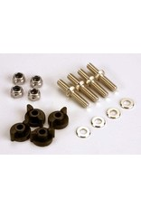 Traxxas Anchoring pins with locknuts (4)/ plastic thumbscrews for up, TRX1516
