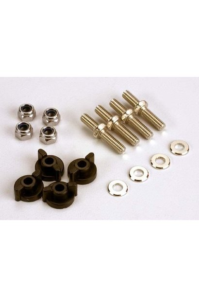 Anchoring pins with locknuts (4)/ plastic thumbscrews for up, TRX1516