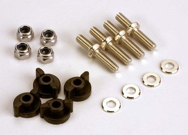 Anchoring pins with locknuts (4)/ plastic thumbscrews for up, TRX1516-1