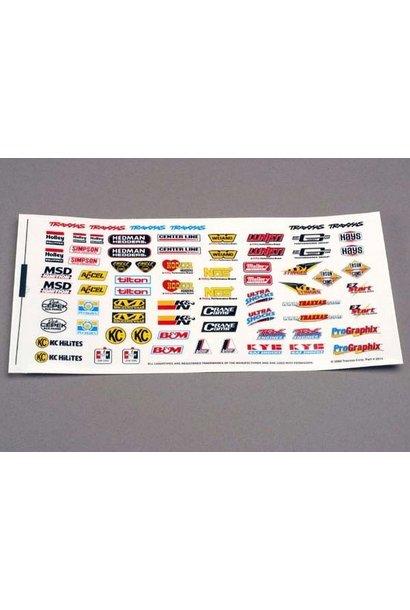 Decal sheet, racing sponsors, TRX2514