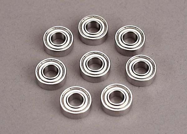 Ball bearings (5x11x4mm) (8), TRX4607-1