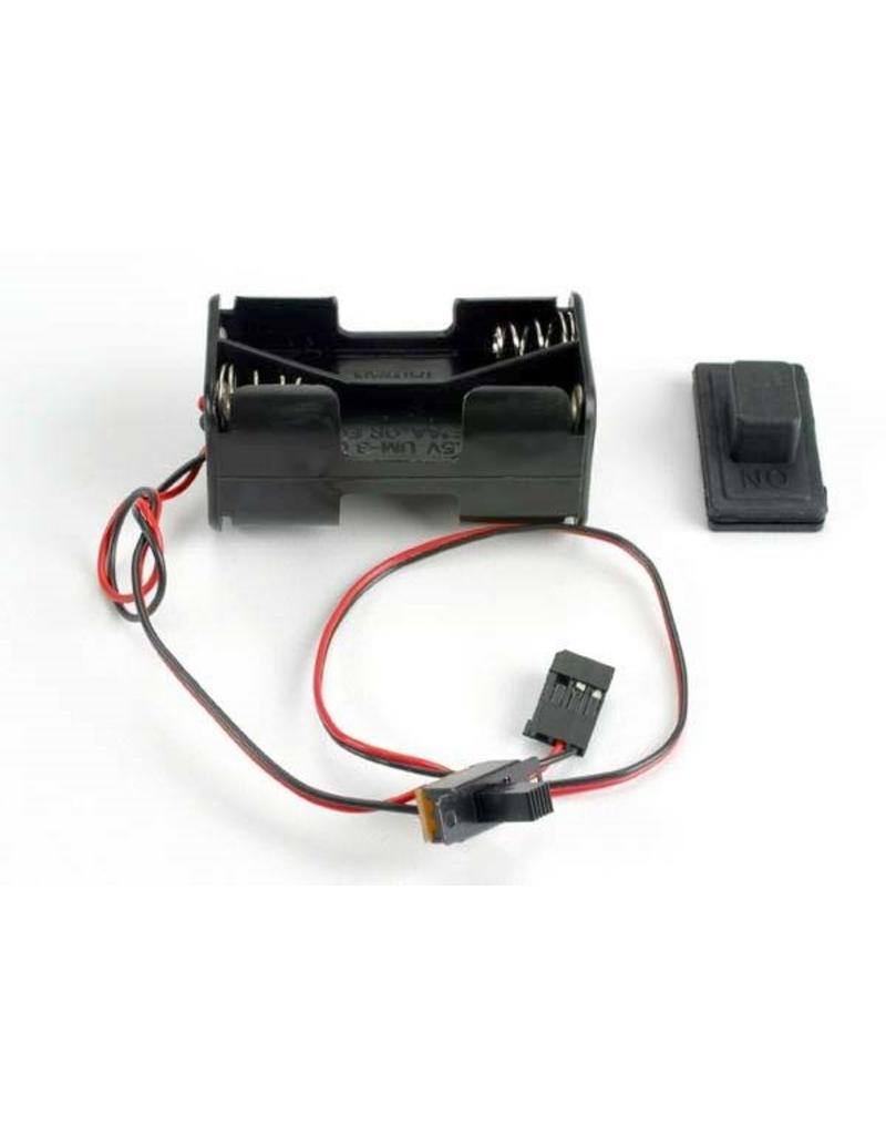Traxxas Battery holder with on/off switch/ rubber on/off switch cove, TRX1523