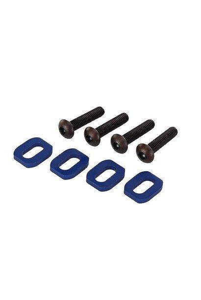 Washers, motor mount, aluminum (blue-anodized) (4), TRX7759
