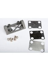 Traxxas Bearing block, front (supports front shaft) (grey) / belt te, TRX4827A