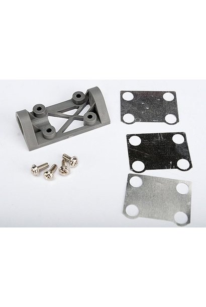 Bearing block, front (supports front shaft) (grey) / belt te, TRX4827A