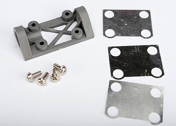 Bearing block, front (supports front shaft) (grey) / belt te, TRX4827A-1