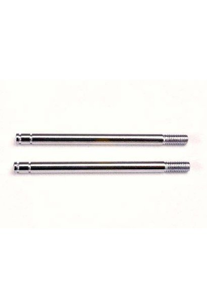 Shock shafts, steel, chrome finish (long) (2), TRX1664