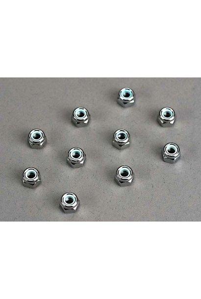 Nuts, 4mm nylon locking (10), TRX1747