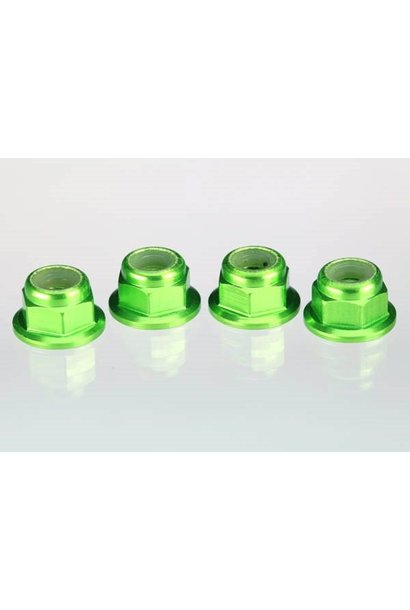Green anodized axle nuts, TRX1747G