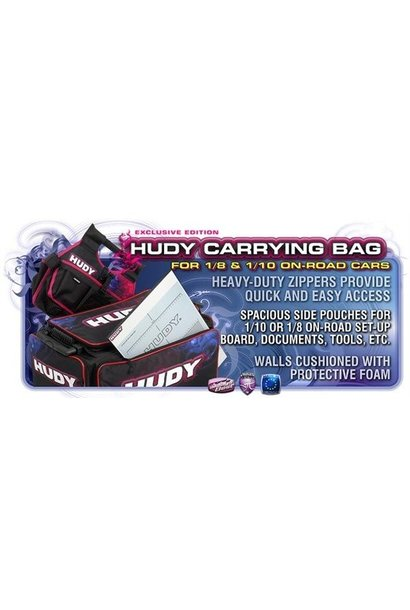Hudy 1/10 & 1/8 Carrying Bag + Tool Bag - Exclusive Edition, H199120