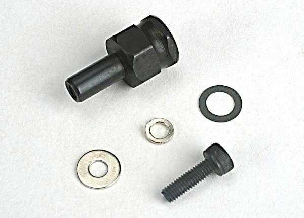 Adapter nut, clutch/ 3x10mm cap screw/washer/ split washer (, TRX4844-1