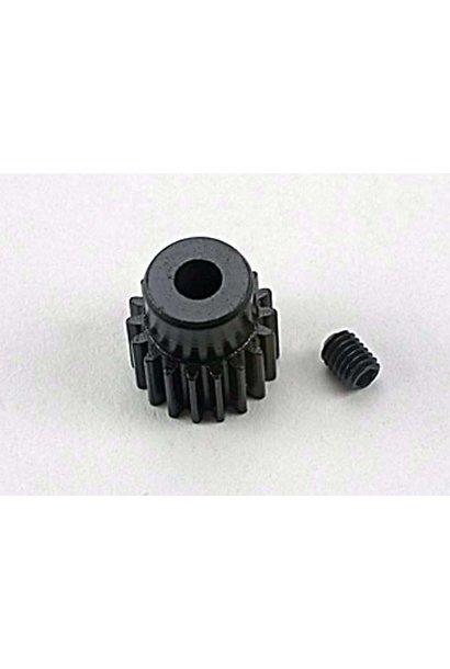 Gear, 18-T pinion (48-pitch) / set screw, TRX1918