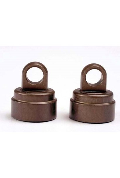 Shock caps, aluminum (2)/ (Big Bore Shocks, also fits plasti, TRX2667