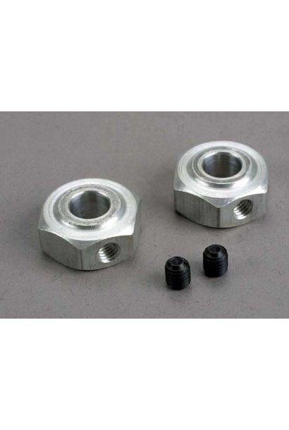 Aluminum hex wheel hubs (2)/ 5x6 GS (2), TRX6046