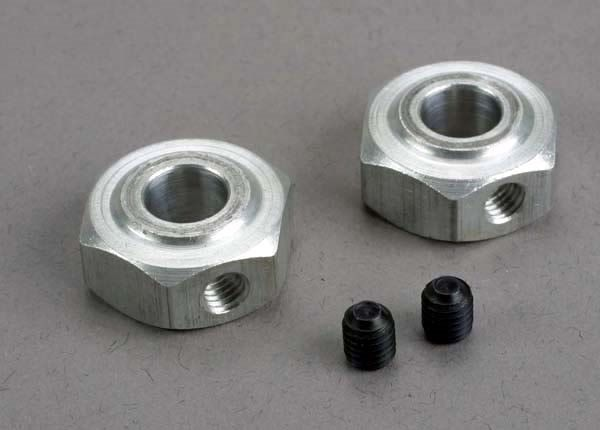 Aluminum hex wheel hubs (2)/ 5x6 GS (2), TRX6046-1