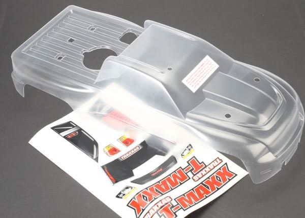 Body, T-Maxx (long wheelbase) (clear, requires painting)/ wi, TRX4921-1