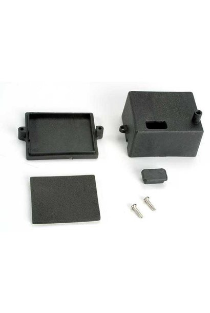 Box, receiver/ x-tal access rubber plug/ adhesive foam chass, TRX4924