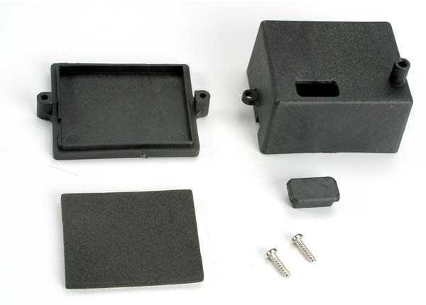 Box, receiver/ x-tal access rubber plug/ adhesive foam chass, TRX4924-1