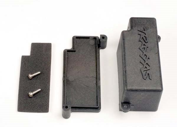 Box, battery/ adhesive foam chassis pad, TRX4925-1