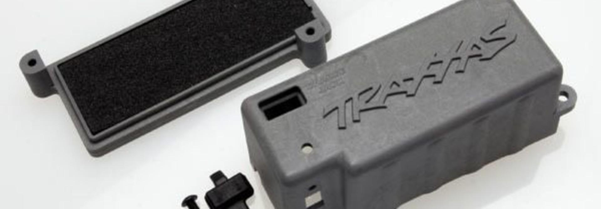 Box, battery (grey)/ adhesive foam chassis pad/charge jack p, TRX4925X