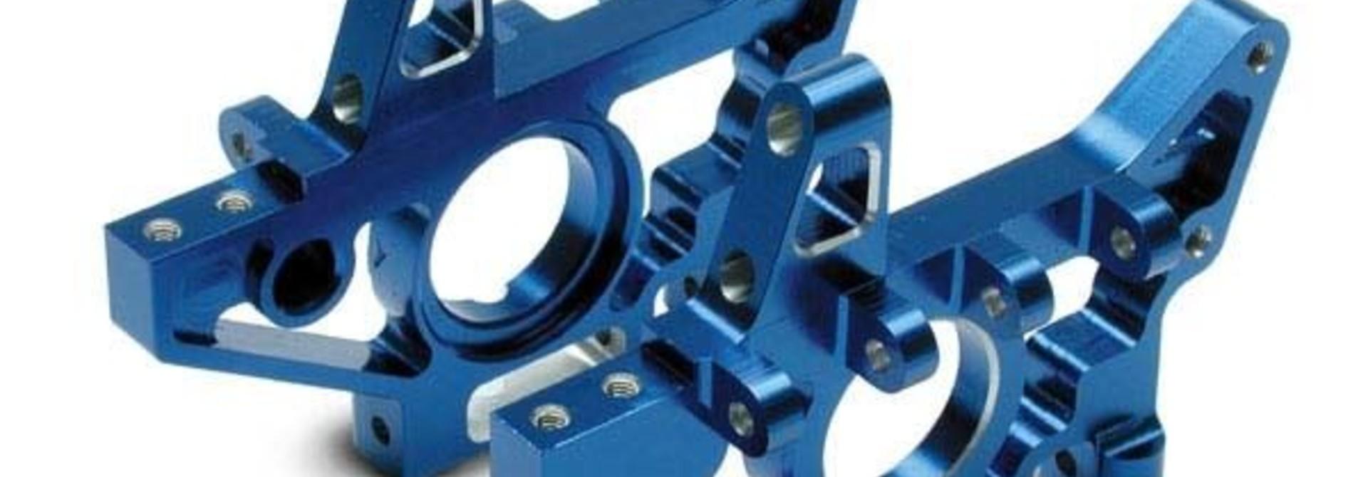 Bulkheads, rear (machined 6061-T6 aluminum) (blue)(l&r) (req, TRX4929X
