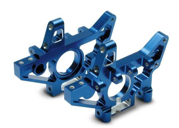 Bulkheads, rear (machined 6061-T6 aluminum) (blue)(l&r) (req, TRX4929X-1