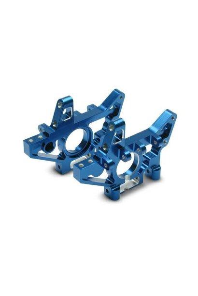 Bulkheads, front (machined 6061-T6 aluminum) (blue) (l&r) (r, TRX4930X