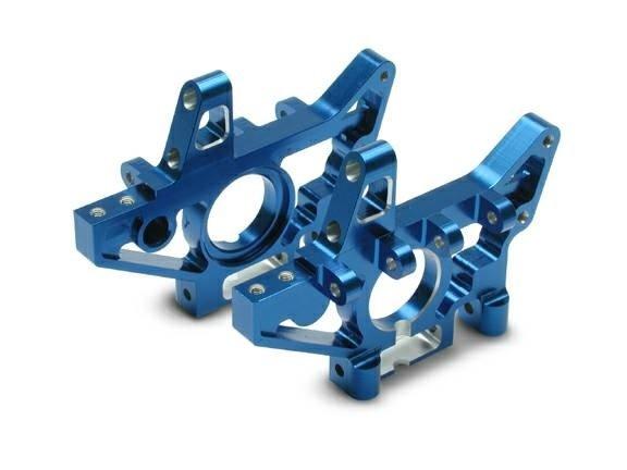 Bulkheads, front (machined 6061-T6 aluminum) (blue) (l&r) (r, TRX4930X-1