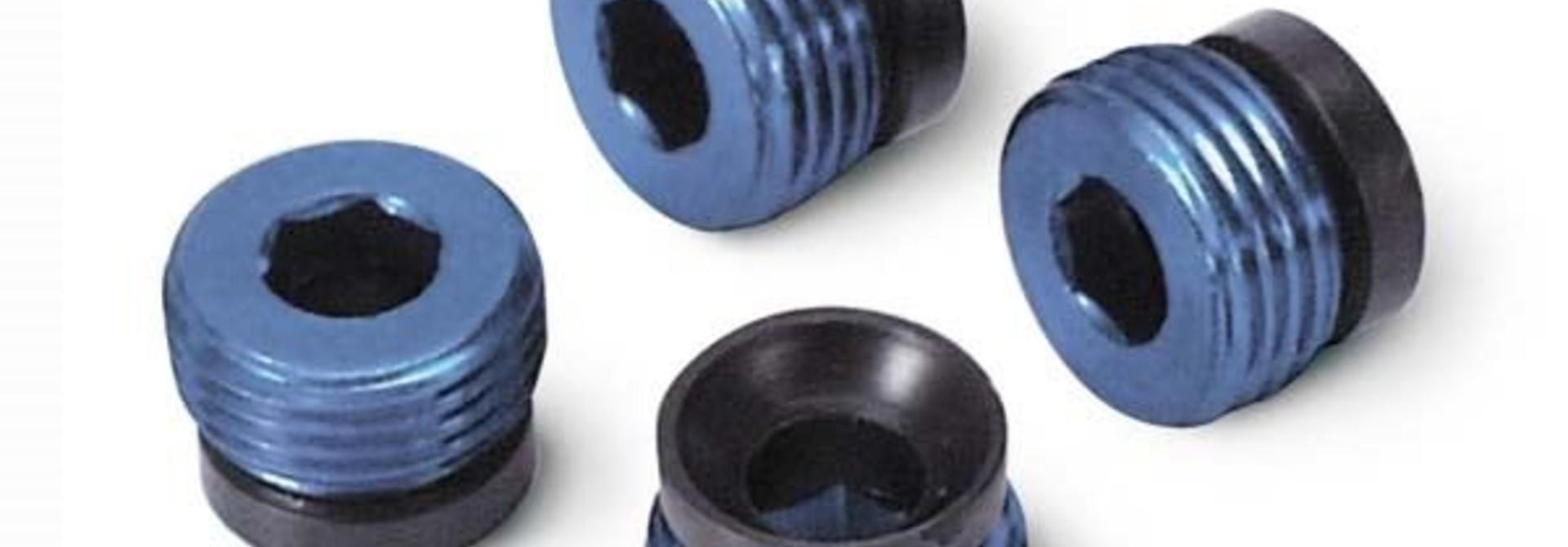 Aluminum caps, pivot ball (blue-anodized) (4), TRX4934X